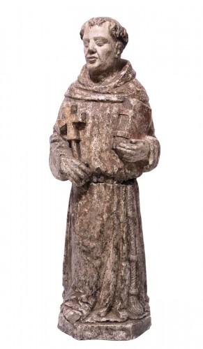 """Stone sculpture """"St. Francis"""", Venice, 15th cent."""