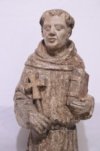 "Stone sculpture ""St. Francis"", Venice, 15th cent. - Sculpture Style Middle age"