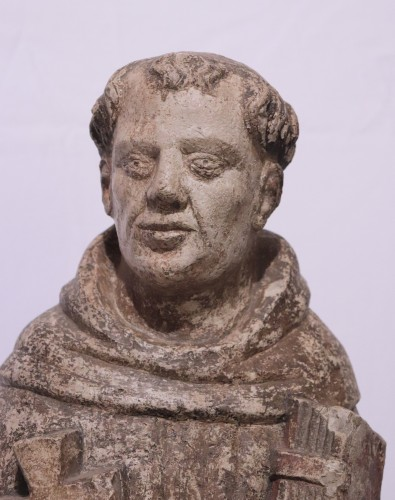 "Stone sculpture ""St. Francis"", Venice, 15th cent. -"