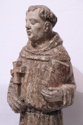 "Middle age - Stone sculpture ""St. Francis"", Venice, 15th cent."