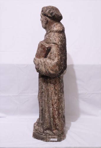"Antiquités - Stone sculpture ""St. Francis"", Venice, 15th cent."
