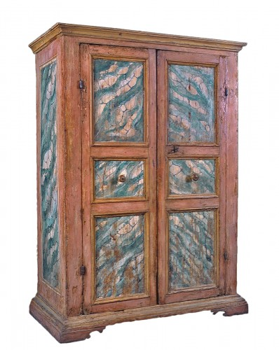 Wardrobe - Cupboard, lacquered Tuscany, 17th century