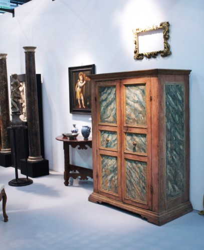 Furniture  - Wardrobe - Cupboard, lacquered Tuscany, 17th century