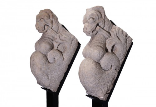Pair of marble sculptures, Italy 15th century