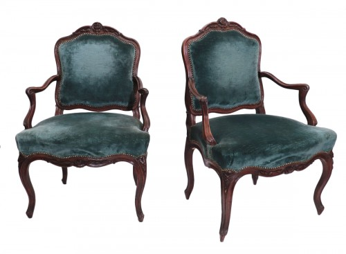 Pair of armchairs, France, Louis XV
