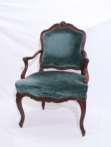 Seating  - Pair of armchairs, France, Louis XV