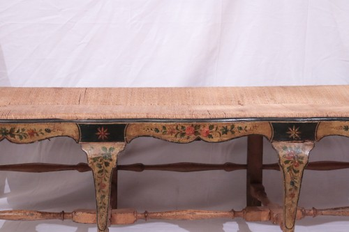 Lacquered bench, Italy, 18th century -