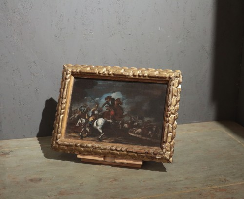 Giuseppe Zais (1709-1774) - Battle - Paintings & Drawings Style Louis XIV