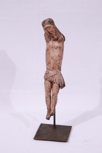 Polychrome wooden Christ, Umbria, 15th century - Sculpture Style Middle age