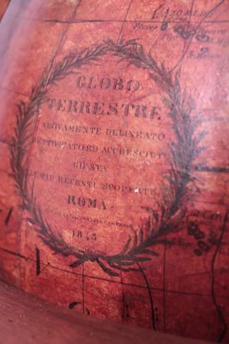 19th century - Terrestrial globe, Italy 1845