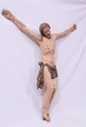 Polychromed wooden Christ, Tuscany, 16th century - Sculpture Style Renaissance