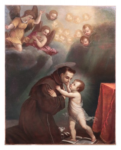 Vincenzo Spisanelli (1595-1662) - Saint Anthony of Padua  - Paintings & Drawings Style