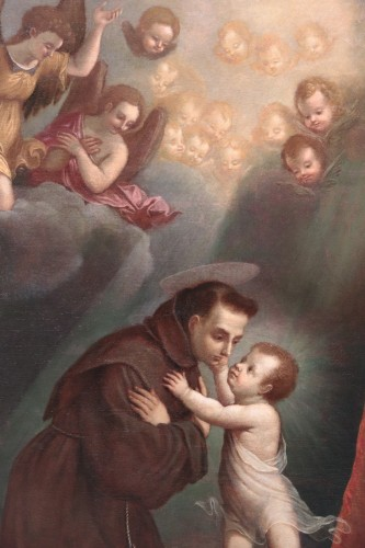 Paintings & Drawings  - Vincenzo Spisanelli (1595-1662) - Saint Anthony of Padua