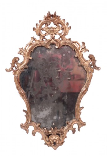 Giltwood Mirror,, Italy 18th century