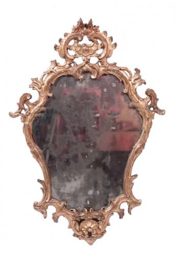 Giltwood Mirror,, Italy 18th century