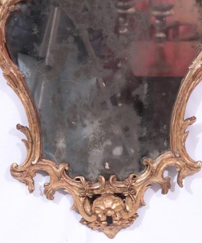 Giltwood Mirror,, Italy 18th century - Mirrors, Trumeau Style Louis XV