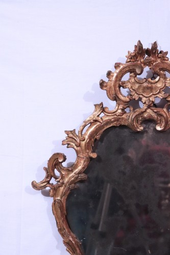 Mirrors, Trumeau  - Giltwood Mirror,, Italy 18th century