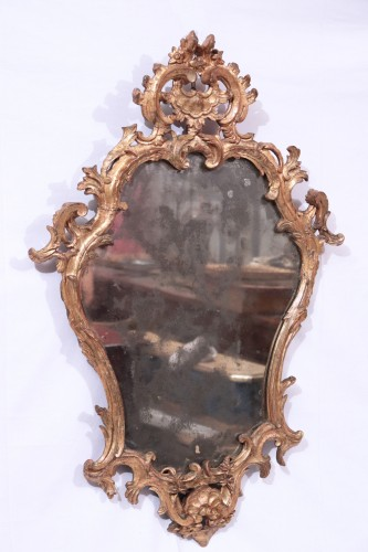 Giltwood Mirror,, Italy 18th century -