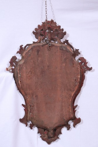 18th century - Giltwood Mirror,, Italy 18th century