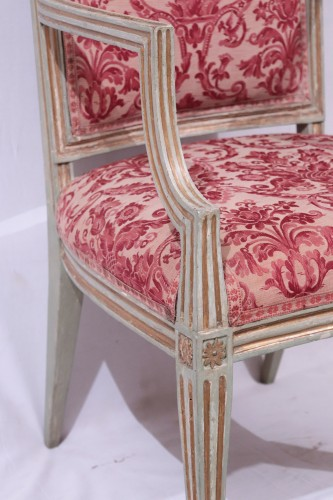 4 Lacquered and gold armchairs, Tuscany late 18th century - Louis XVI