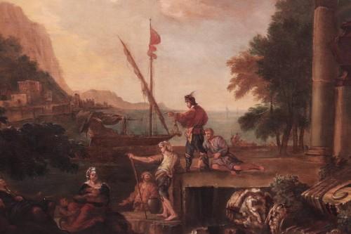 Landscape - Jacob de Heush (Utrecht 1657 - Amsterdam 1701) - Paintings & Drawings Style Louis XIV