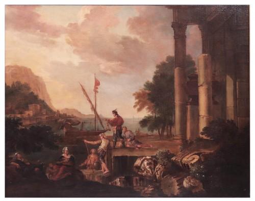 Paintings & Drawings  - Landscape - Jacob de Heush (Utrecht 1657 - Amsterdam 1701)