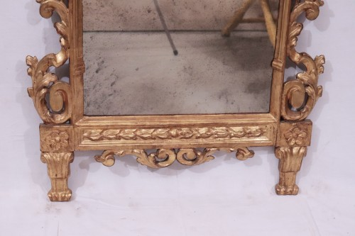 Mirrors, Trumeau  -  Gilded Mirror, Tuscany, 18th century
