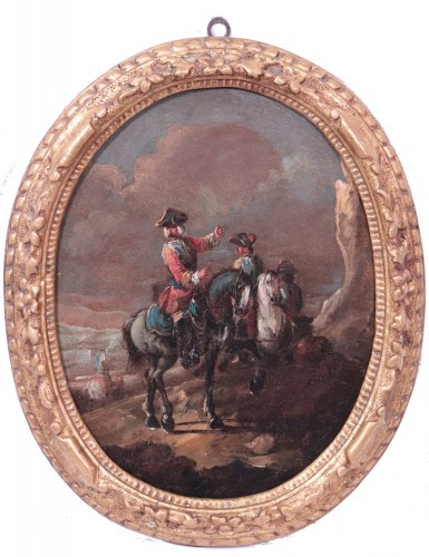Giuseppe Zais (1709-1784) - Knights and Landscape - Paintings & Drawings Style Louis XV
