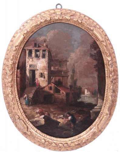 Paintings & Drawings  - Giuseppe Zais (1709-1784) - Knights and Landscape