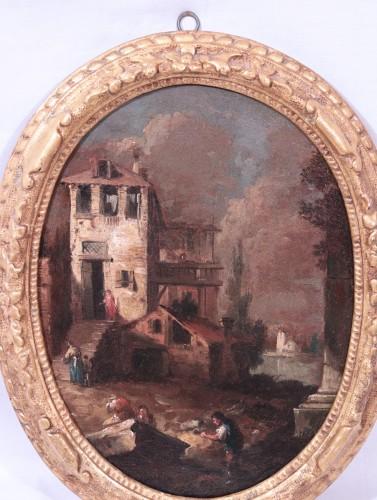 Giuseppe Zais (1709-1784) - Knights and Landscape -