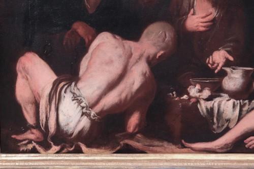 Antonio Carneo (1637-1692) - The Prisoners' Meal - Paintings & Drawings Style Louis XIII