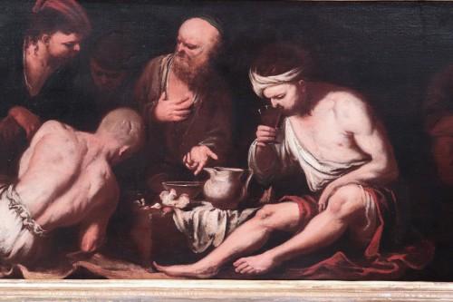 Paintings & Drawings  - Antonio Carneo (1637-1692) - The Prisoners' Meal