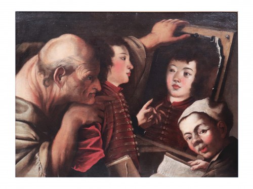 Know Yourself  - Pietro Della Vecchia and atelier (1603-1678) - Paintings & Drawings Style Renaissance