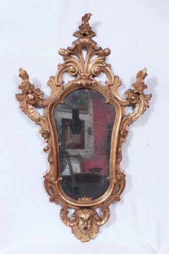 Pair Of Mirrors, Lombardy, 18th Century - Mirrors, Trumeau Style Louis XV