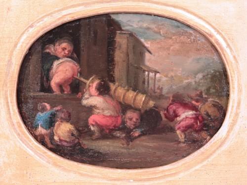 Paintings & Drawings  - Faustino Bocchi (Brescia 1659 - 1741) - Pair of small scenes