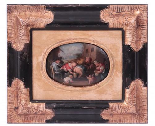 Faustino Bocchi (Brescia 1659 - 1741) - Pair of small scenes -