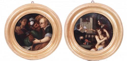 Pietro Della Vecchia (Venice 1603 - 1678) - Pair Of Paintings