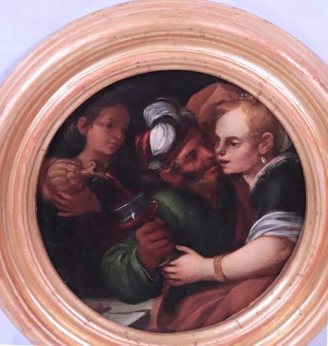 17th century - Pietro Della Vecchia (Venice 1603 - 1678) - Pair Of Paintings