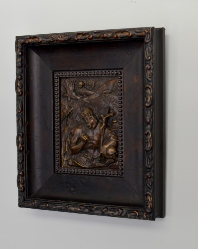 A high-relief bronze plaquette of St. Jerome, circle of Hubert Gerhard - Sculpture Style Renaissance
