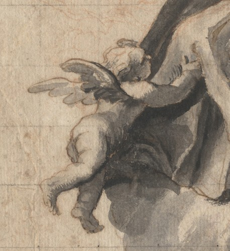 Paintings & Drawings  - Design for a ceiling decoration, attributed to Domenico Piola, 17th cent.