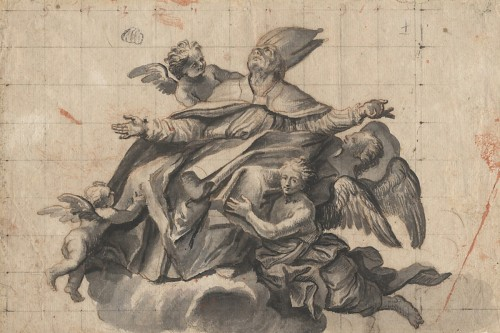Renaissance - Design for a ceiling decoration, attributed to Domenico Piola, 17th cent.