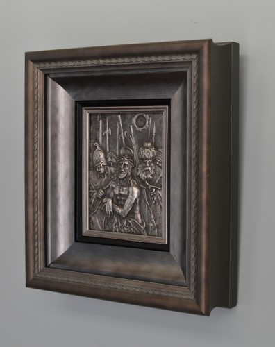 Silver relief depicting the Presentation of Christ by Christoph Lencker - Sculpture Style Renaissance