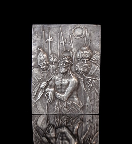 Silver relief depicting the Presentation of Christ by Christoph Lencker - Renaissance