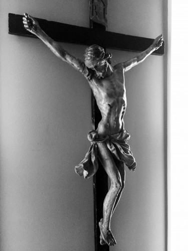 - 18th cent. Austrian crucifix, workshop of Johann Franz Schwanthaler