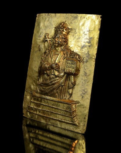 17th century - 17th cent. gilt relief plaque of Saint Agatha of Sicily