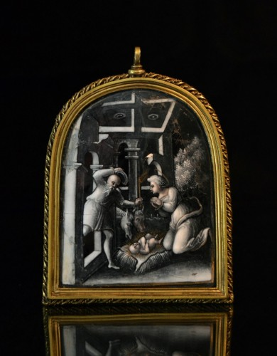 Objects of Vertu  - Limoges enamel of the Nativity, attributed to Pierre Reymond or workshop