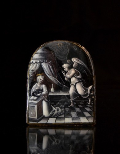 Objects of Vertu  - Limoges enamel of the Annunciation, attributed to Martial Ydeux or workshop
