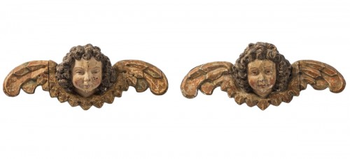 Pair of early 16th cent. Ulmish winged putti, possibly by Gregor Erhart