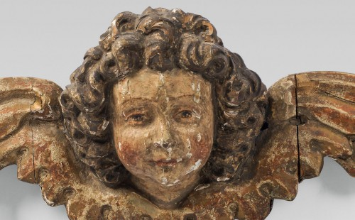 Pair of early 16th cent. Ulmish winged putti, possibly by Gregor Erhart - Sculpture Style Renaissance