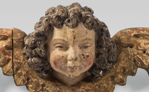 Sculpture  - Pair of early 16th cent. Ulmish winged putti, possibly by Gregor Erhart